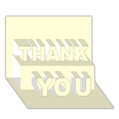 Yellow Color Design Thank You 3d Greeting Card (7x5) by picsaspassion