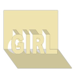 Gold Yellow Color Design Girl 3d Greeting Card (7x5) by picsaspassion