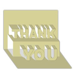 Brown Sand Color Design Thank You 3d Greeting Card (7x5) by picsaspassion
