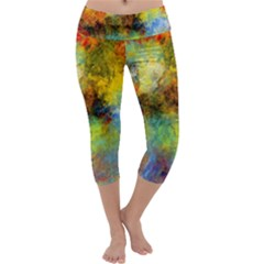Lagoon Capri Yoga Leggings by digitaldivadesigns
