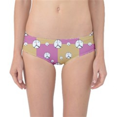 Symbol Peace Drawing Pattern  Classic Bikini Bottoms by dflcprintsclothing