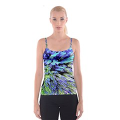 Colorful Floral Art Spaghetti Strap Top by yoursparklingshop
