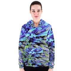 Colorful Floral Art Women s Zipper Hoodie