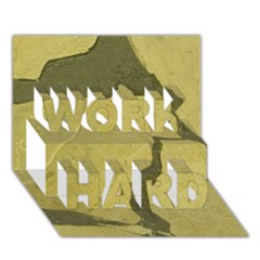 Stylish Gold Stone Work Hard 3d Greeting Card (7x5) by yoursparklingshop