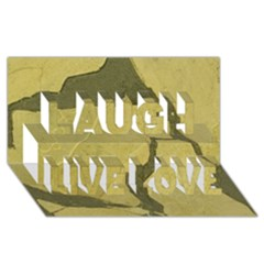 Stylish Gold Stone Laugh Live Love 3d Greeting Card (8x4)