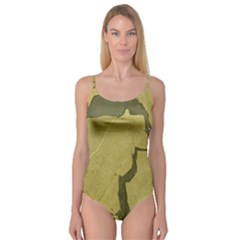 Stylish Gold Stone Camisole Leotard