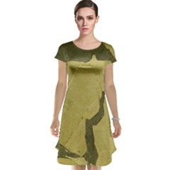 Stylish Gold Stone Cap Sleeve Nightdress