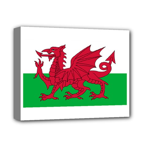 Flag Of Wales Deluxe Canvas 14  X 11  by abbeyz71