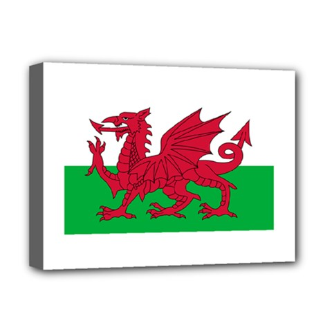 Flag Of Wales Deluxe Canvas 16  X 12   by abbeyz71