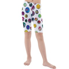 Play With Me Kids  Mid Length Swim Shorts by Valentinaart