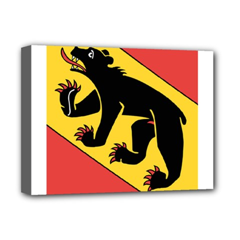 Flag Of Canton Of Bern Deluxe Canvas 16  X 12   by abbeyz71