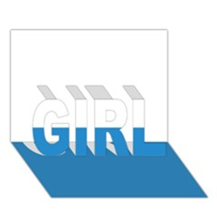 Flag Of Canton Of Lucerne Girl 3d Greeting Card (7x5)