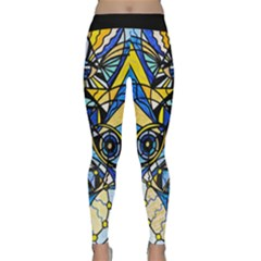 Sirian Solar Invocation Seal - Yoga Leggings  by tealswan