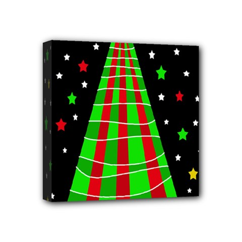 Xmas Tree  Mini Canvas 4  X 4  by Valentinaart