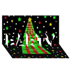Xmas Tree  Party 3d Greeting Card (8x4) by Valentinaart