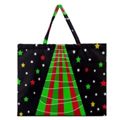 Xmas Tree  Zipper Large Tote Bag by Valentinaart