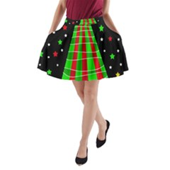 Xmas Tree  A Line Pocket Skirt by Valentinaart