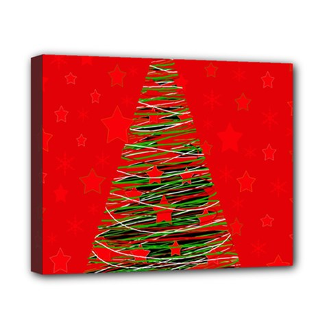 Xmas Tree 3 Canvas 10  X 8  by Valentinaart