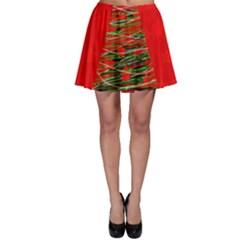 Xmas Tree 3 Skater Skirt by Valentinaart