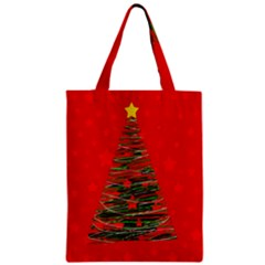 Xmas Tree 3 Zipper Classic Tote Bag by Valentinaart