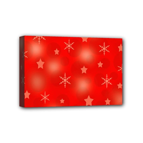 Red Xmas Desing Mini Canvas 6  X 4  by Valentinaart