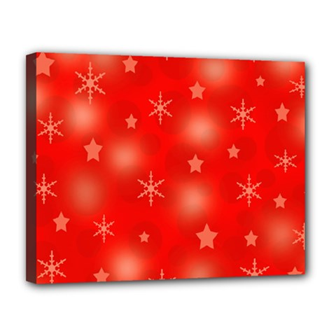 Red Xmas Desing Canvas 14  X 11  by Valentinaart