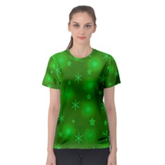 Green Xmas Design Women s Sport Mesh Tee by Valentinaart