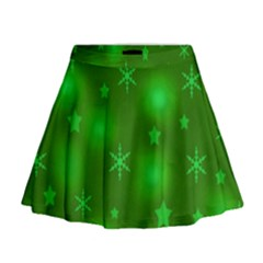 Green Xmas Design Mini Flare Skirt by Valentinaart