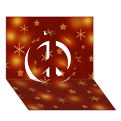 Xmas Design Peace Sign 3d Greeting Card (7x5) by Valentinaart