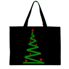 Simple Xmas Tree Zipper Mini Tote Bag by Valentinaart