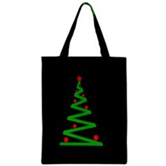 Simple Xmas Tree Zipper Classic Tote Bag by Valentinaart