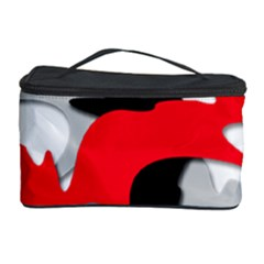 Gray, Red And Black Shape Cosmetic Storage Case by Valentinaart