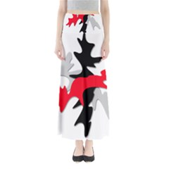 Gray, Red And Black Shape Maxi Skirts by Valentinaart