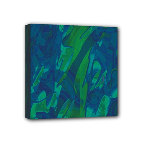 Green And Blue Design Mini Canvas 4  X 4  by Valentinaart
