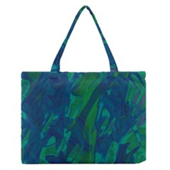 Green And Blue Design Medium Zipper Tote Bag by Valentinaart