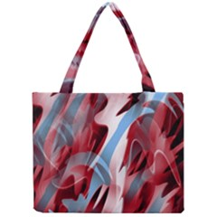 Blue And Red Smoke Mini Tote Bag by Valentinaart