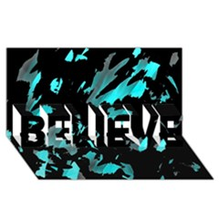 Painter Was Here   Cyan Believe 3d Greeting Card (8x4) by Valentinaart