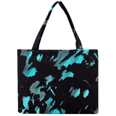 Painter Was Here   Cyan Mini Tote Bag by Valentinaart