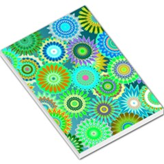 Funky Flowers A Large Memo Pads