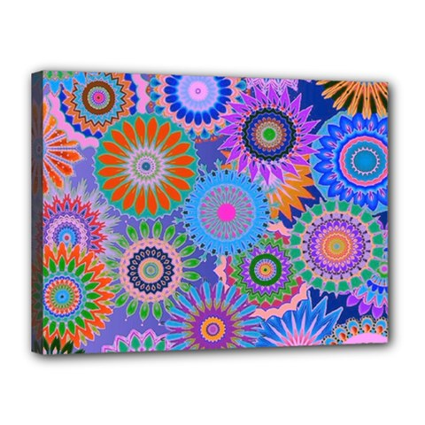 Funky Flowers B Canvas 16  X 12  by MoreColorsinLife