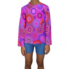 Funky Flowers C Kids  Long Sleeve Swimwear by MoreColorsinLife