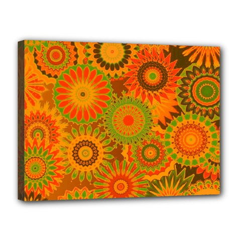 Funky Flowers D Canvas 16  X 12  by MoreColorsinLife