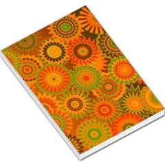 Funky Flowers D Large Memo Pads by MoreColorsinLife