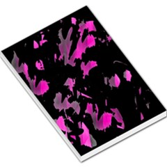 Painter Was Here   Magenta Large Memo Pads by Valentinaart