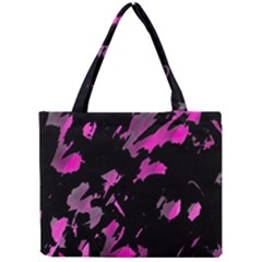 Painter Was Here   Magenta Mini Tote Bag by Valentinaart