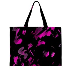 Painter Was Here   Magenta Zipper Mini Tote Bag by Valentinaart