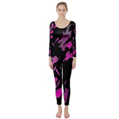Painter Was Here   Magenta Long Sleeve Catsuit by Valentinaart
