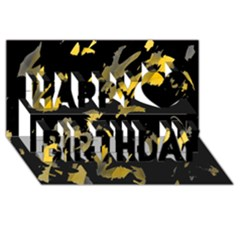 Painter Was Here   Yellow Happy Birthday 3d Greeting Card (8x4) by Valentinaart