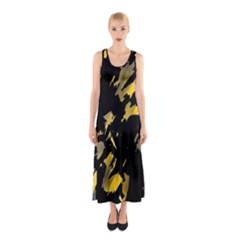 Painter Was Here - Yellow Sleeveless Maxi Dress by Valentinaart