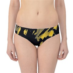 Painter Was Here - Yellow Hipster Bikini Bottoms by Valentinaart